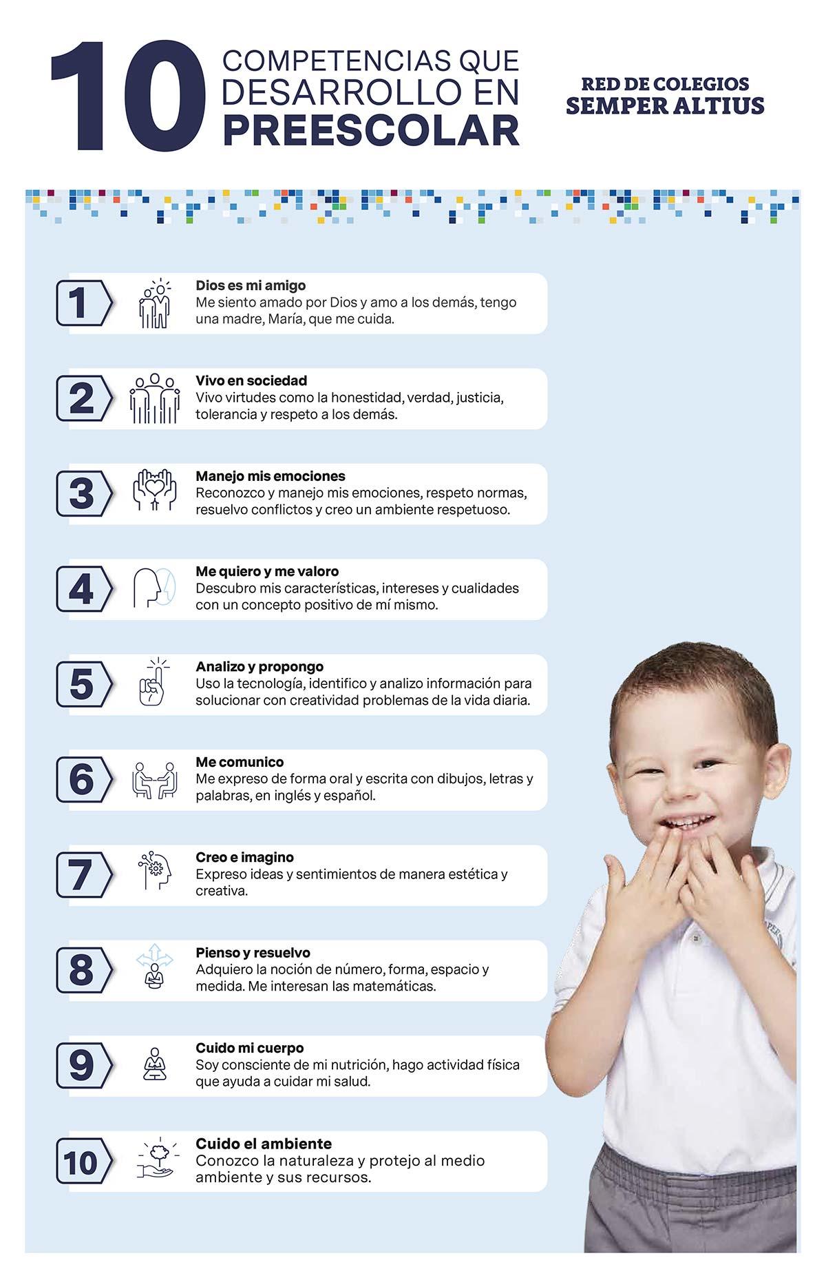 10 competencias desarrollo kinder