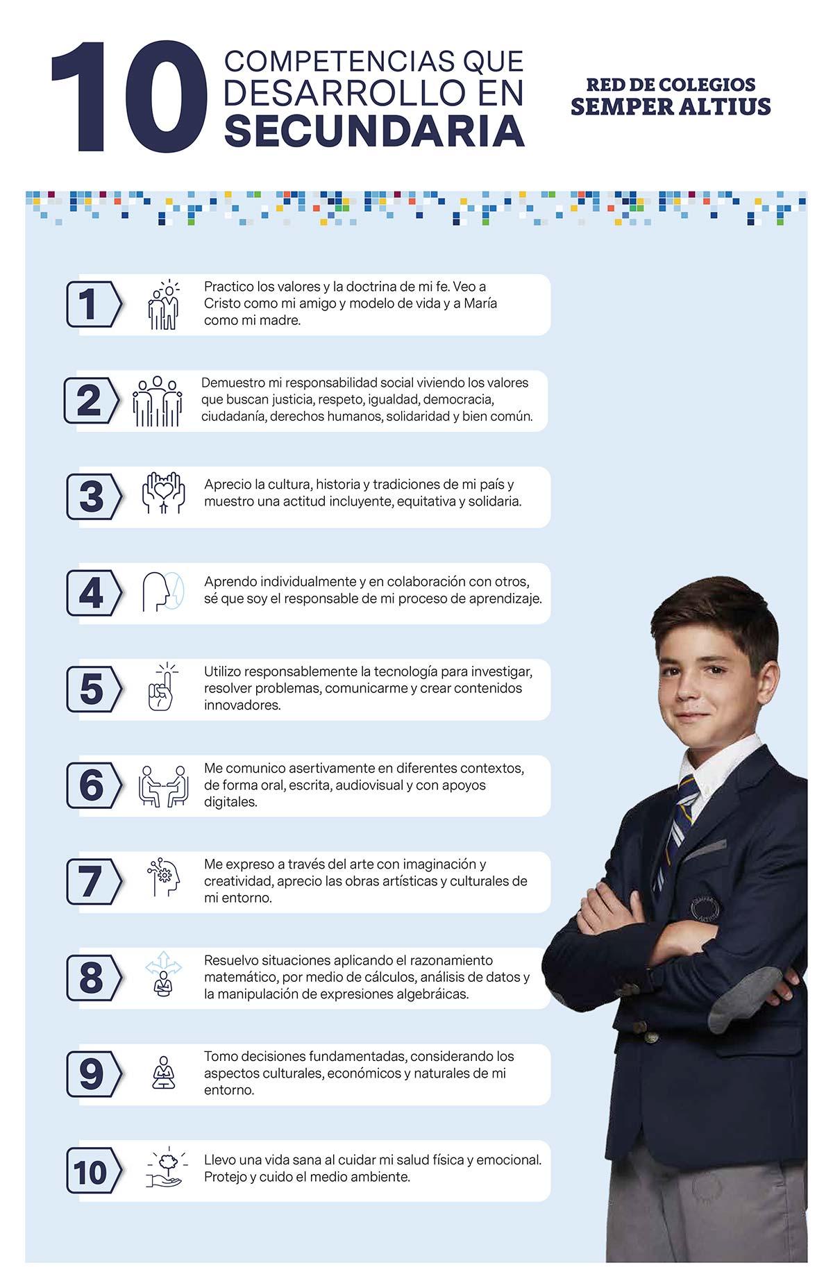 10 competencias desarrollo secundaria