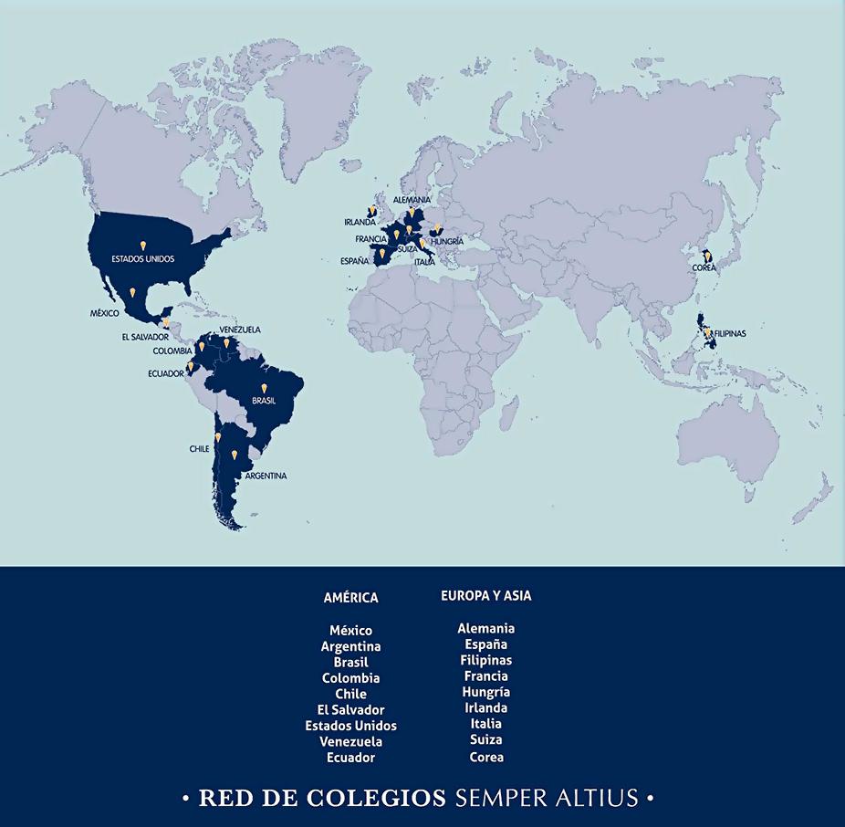 Mapa de colegios en el mundo